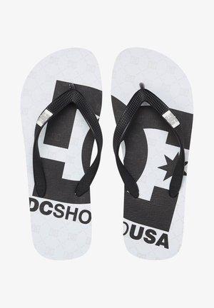 SPRAY GRAFFIK - T-bar sandals - white black monogram