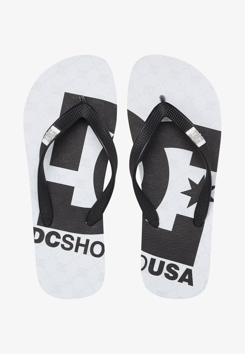 DC Shoes - SPRAY GRAFFIK - T-bar sandals - white black monogram