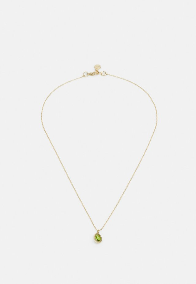 TROY PENDANT NECK - Ketting - gold-coloured/green
