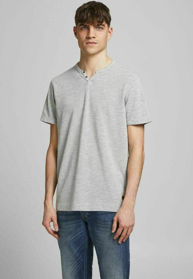 Jack & Jones PREMIUM - Basic T-shirt - light grey melange