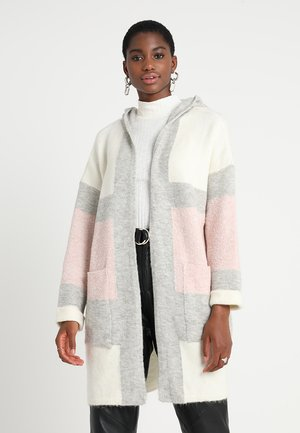 HODDED CARDIGAN - Gilet - antique white