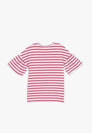 Camiseta estampada - red/white