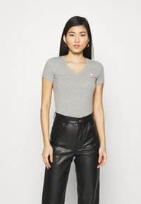 Guess - MINI TRIANGLE - T-shirt print - stone heather grey - 0