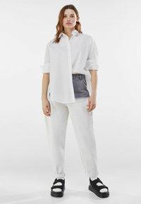 Bershka - Button-down blouse - stone - 1
