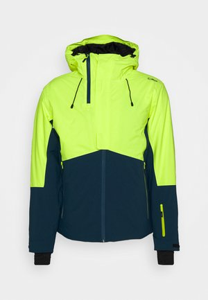 MAN JACKET FIX HOOD - Lyžařská bunda - yellow fluo