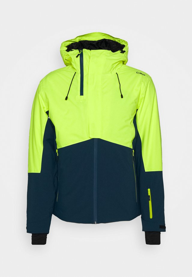 MAN JACKET FIX HOOD - Skijacke - yellow fluo