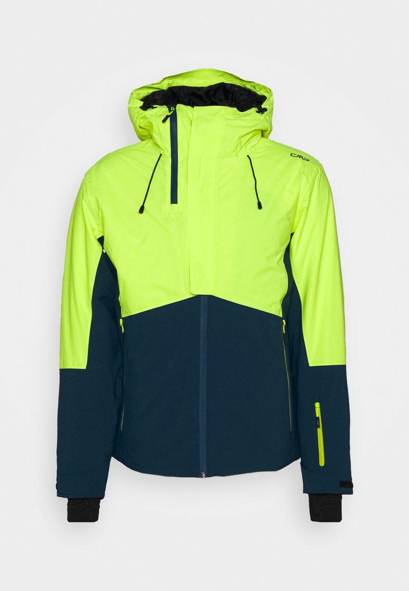 CMP - MAN JACKET FIX HOOD - Ski jacket - yellow fluo