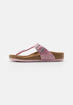 GIZEH KIDS COSMIC SPARKLE  - T-bar sandals - candy pink