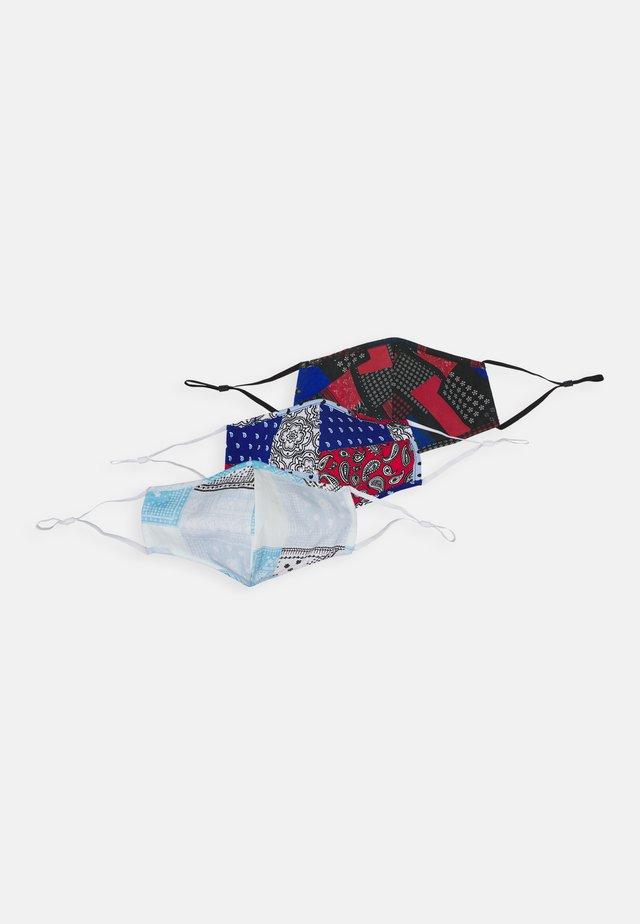 3 PACK UNISEX - Látková maska - blue/red