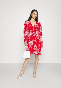 Vila - VITAGETES DRESS - Cocktail dress / Party dress - mars red - 1