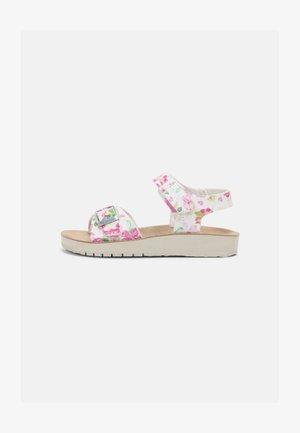 COSTAREI - Sandals - white/pink