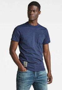 G-Star - STITCH DETAIL POCKET - T-shirt basic - warm sartho - 0