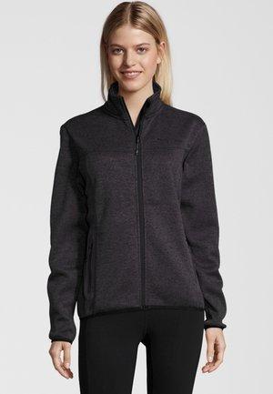 MIT HOCHABSCHLIESSENDEM KRAGEN - Fleece jacket - dark grey melange