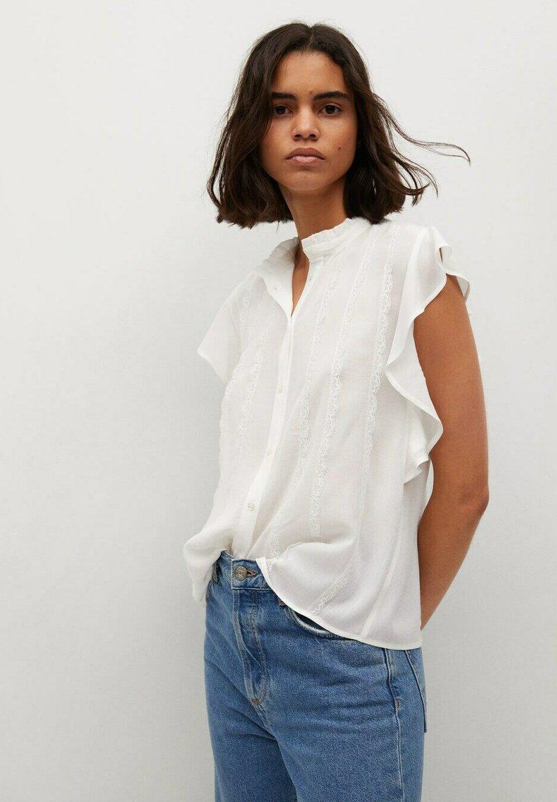 Mango - Button-down blouse - off white