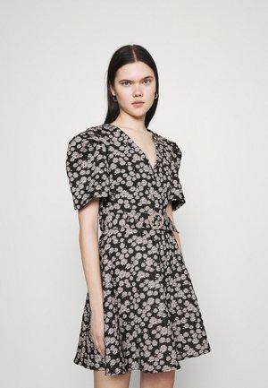 LAVENDER TWIST MINI DRESS - Day dress - black