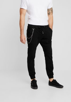 TOBY PANTS - Tygbyxor - black
