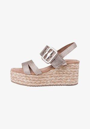 High heeled sandals - rose metallic