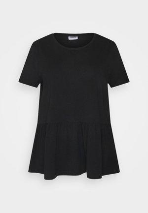 NMHAILEY PEPLUM - Basic T-shirt - black