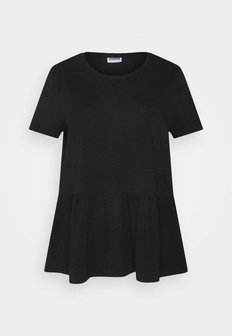 Noisy May Curve - NMHAILEY PEPLUM - Basic T-shirt - black