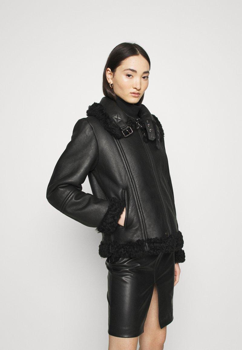Diesel - EYRE - Leather jacket - black
