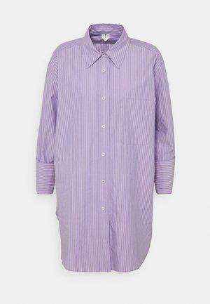 SHIRT - Button-down blouse - purple stripe
