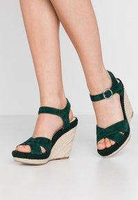 Anna Field - LEATHER - Højhælede sandaletter / Højhælede sandaler - green - 0