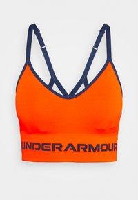 SEAMLESS LOW LONG BRA - Light support sports bra - orange