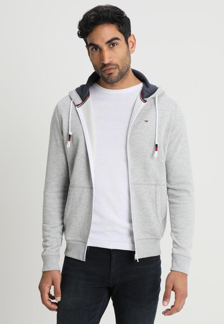 Tommy Jeans - ORIGINAL ZIPTHRU - Zip-up hoodie - mottled grey