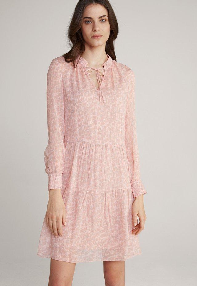 Korte jurk - rosé-weiß