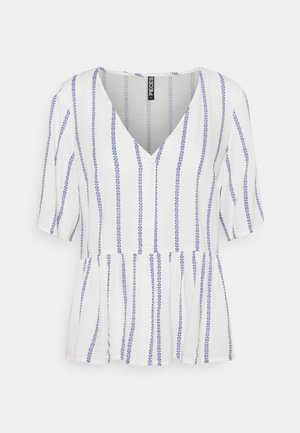 PCTESVI - T-shirt con stampa - cloud dancer