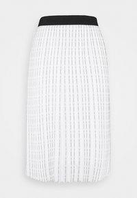 KARL LAGERFELD - PLEATED SKIRT LOGO - Pleated skirt - white - 3