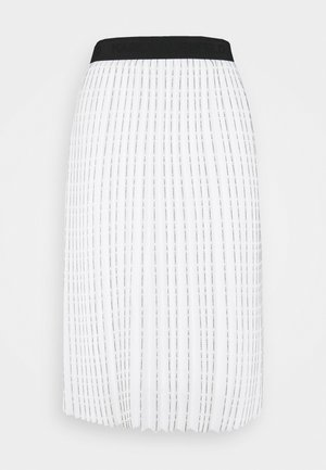 PLEATED SKIRT LOGO - A-line skirt - white