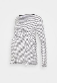 MAMALICIOUS - MLCILLE TOP CHECK - Long sleeved top - snow white/black - 0