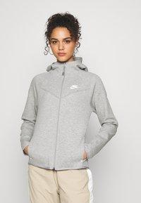 Nike Sportswear - HOODIE - Zip-up hoodie - mottled grey - 0