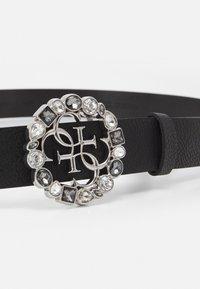 Guess - ADJUSTABLE PANT BELT - Belte - black/silver-coloured - 2
