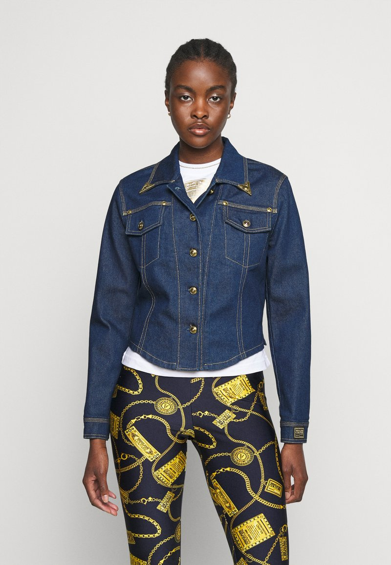 Versace Jeans Couture - LADY JACKET - Kurtka jeansowa - indigo