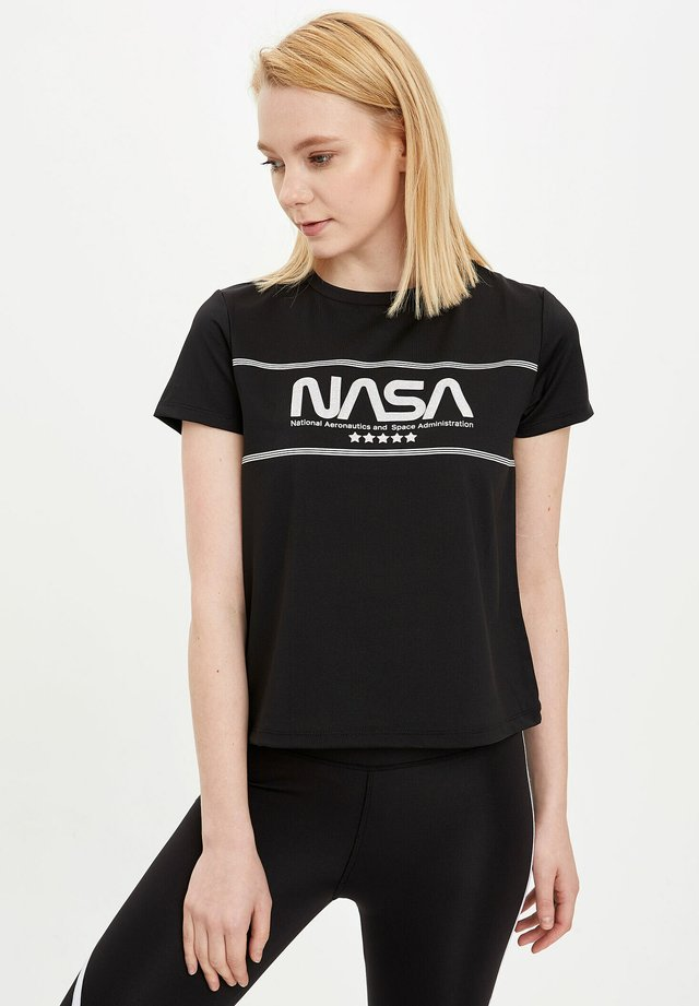 NASA - T-shirt imprimé - black