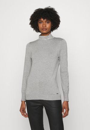 NAILHEAD TURTLENECK  - Stickad tröja - avenue grey