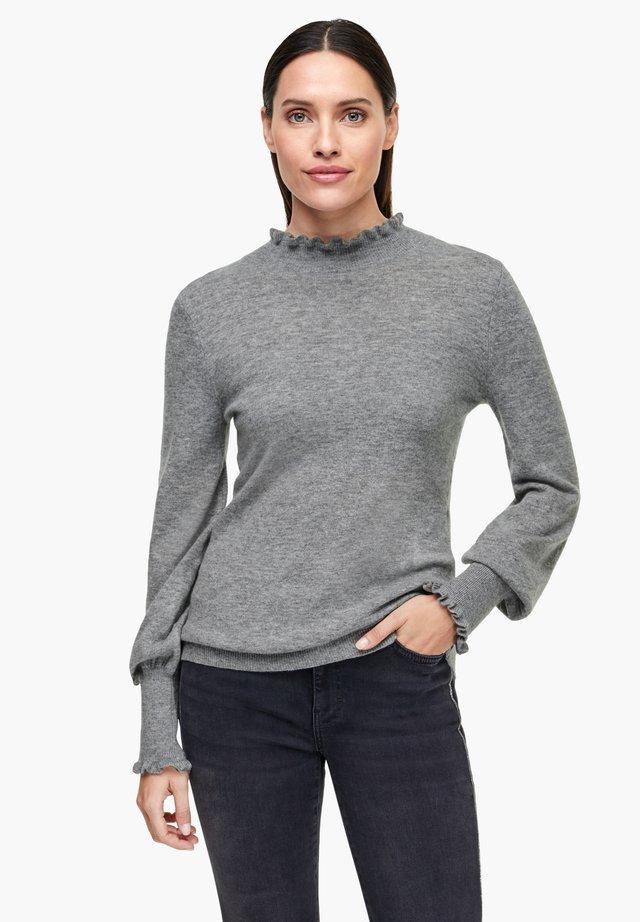 MIT STEHKRAGEN - Jumper - grey melange