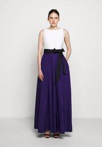Lauren Ralph Lauren - MEMORY TAFFETA LONG GOWN - Vestido de fiesta - cannes blue - 0