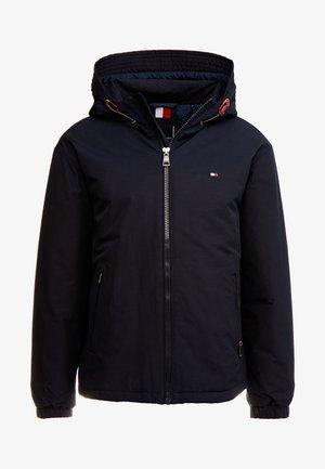 HOODED BLOUSON - Light jacket - blue