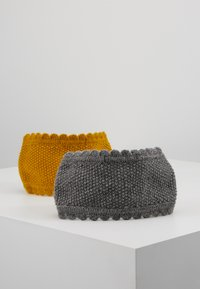 mint&berry - 2 PACK - Ohrenwärmer - dark grey/Yellow - 3