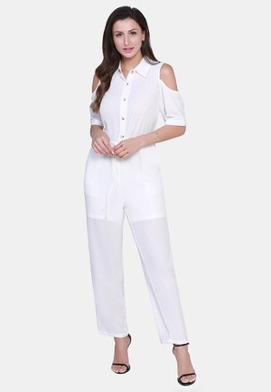 Jumpsuit - woolen white