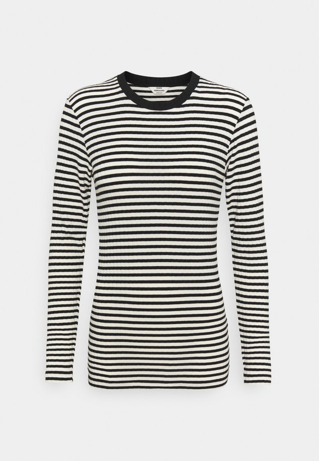 STRIPE MIX TUBA - Long sleeved top - off white/black