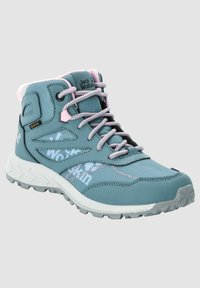 Jack Wolfskin - WOODLAND TEXAPORE MID K - Hiking shoes - grey pink - 1
