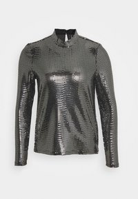 Vero Moda - VMKYLIE HIGHNECK - Longsleeve - black/silver - 4