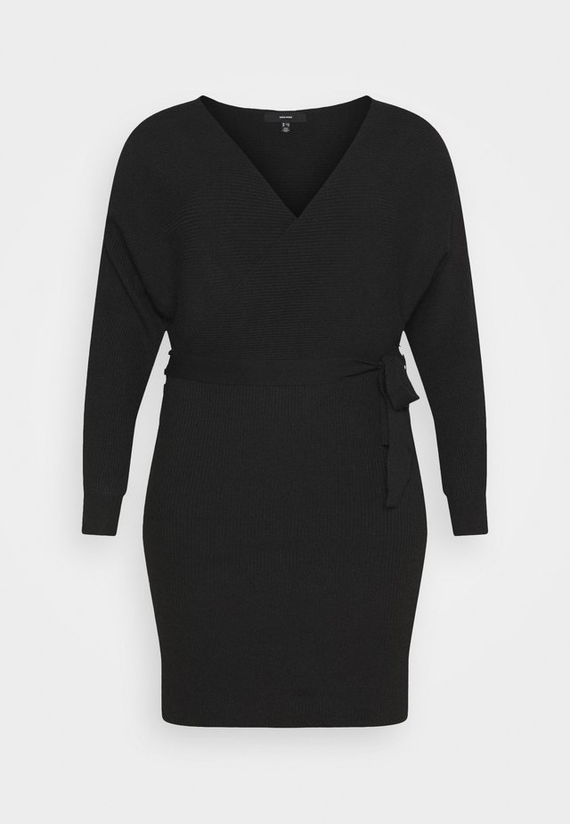 VMREM DRESS CURVE - Gebreide jurk - black