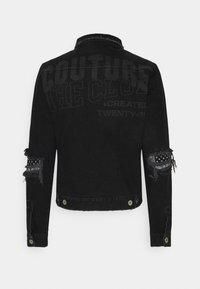 The Couture Club - LASER ETCH DISTRESSED BANDANA JACKET - Farkkutakki - washed black - 1