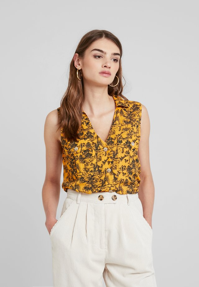 Button-down blouse - yellow
