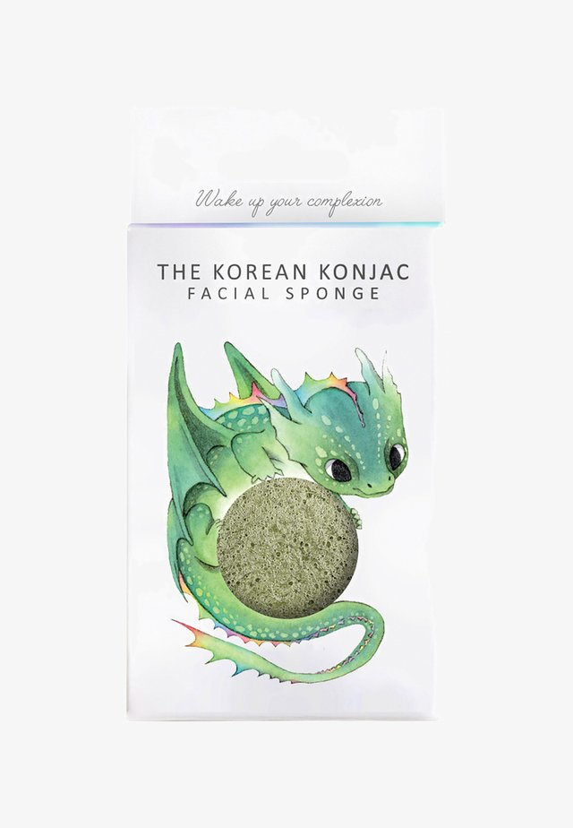 MYTHICAL DRAGON SPONGE AND HOOK - Skincare tool - green clay